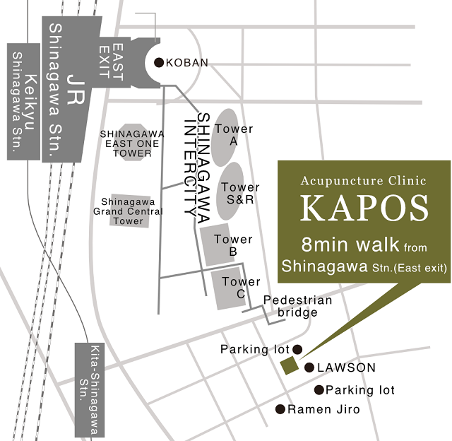 map-kapos(acupuncture clinic in Tokyo)